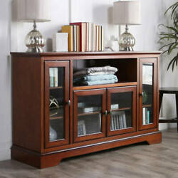 Walker Edison Highboy-style Wood Media Storage Tv Stand Console For Tvs Up To 5