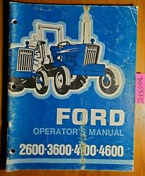 Ford 2600 3600 4100 4600 Tractor 1975-1981 Owner Operator's Manual Se 3501 11/75