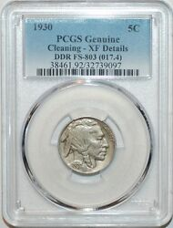 1930 Pcgs Xf Details Fs-803 Ddr Doubled Die Reverse Rare Buffalo Nickel Variety