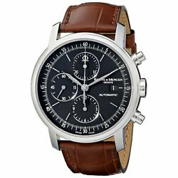 Baume And Mercier Moa08589 Classima Executives Menand039s Automatic Brown Leather Watch