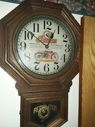 Sessions Indian Motorcycle Advertising Clock