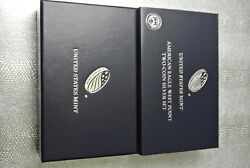2013 American Eagle West Point Two-coin Silver Proof Set Ogp Replacement Box
