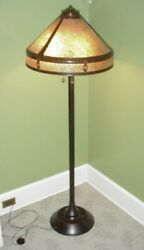 Arts And Crafts Mica Shade Copper Floor Lamp Mica Lamp Company Quality Lighting