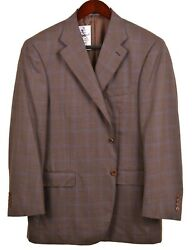 Recent Canali 1934 Brown Puppystooth Plaid Check Wool Sport Coat Jacket 48 R