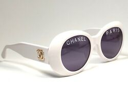 VINTAGE RARE 1993 01947 RUNWAY CHANEL SPRING  SUMMER WHITE FRAME 90'S ITALY
