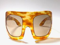 VINTAGE PHILIPPE CHEVALLIER ET C UNGLICK LIGHT TORTOISE MASK 1970 SUNGLASSES
