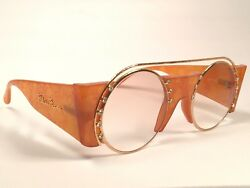 VINTAGE PALOMA PICASSO ROUND 3729 LADY GAGA 1980'S MADE IN GERMANY SUNGLASSES