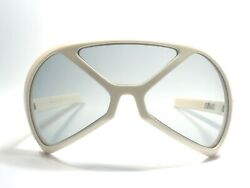VINTAGE RARE SILHOUETTE FUTURA 570 COLLECTOR ITEM WHITE OVERSIZED SUNGLASSES