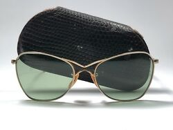 VINTAGE RARE RAY BAN 1940 AVIATOR SMALLEST SIZE 12K GOLD FILLED SUNGLASSES B