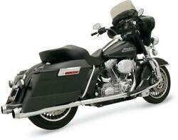 Bassani +p Duals - Megaphone Muffler Chr/pol - 1f46j - For And03999-and03908 H-d Touring