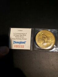 Disneyland 60 Years 1928 - 1988 Mickey Mouse Numbered Commemorative Coin Rare