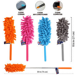 Extendable Andbendable Soft Microfiber Duster Dusting Brush Cleaning Tool Washable