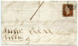 Rare 1844 Cover - 1d Red-brown Cancelled By Glenelg Mail Bag Seal To Lochalsh