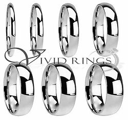 Mens And Womans Stainless Steel Wedding Band High Polish Ring Size 3.5 To 14.5