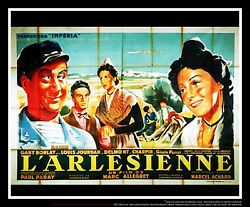 Arlesienne 5x8 Ft Double French Grande Movie Poster Original 1942