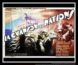 The Song Of Nations 5x8 Ft Double French Grande Movie Poster Original 1930