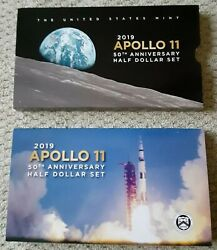 Apollo 11 50th Anniversary 2019 Proof Half Dollar Coin Set. Us Mint - Sold Out