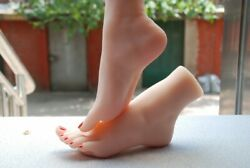 Mannequin Foot Jewelry Display Modandegravele Adulte Faux Pied Skin Texture Display
