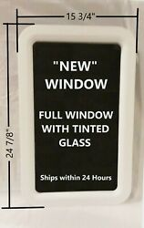 New White Camper Motorhome Rv Trailer Entrance Entry Door Window Tinted Glass