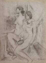 Andrandeacute Lhote French Cubist Drawing Painting Naked Woman Nude Model Studio Modern