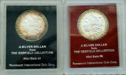 1879-s,1889-s Morgan Dollars Redfield Collection Paramount-beautifully Toned