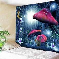 USA Magic Forest Mushroom Tapestry Art Wall Hanging Home Wall Decor Tapestries