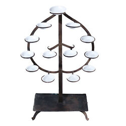 Japanese Tomyodai Temple Light Candle Stand Edo Period