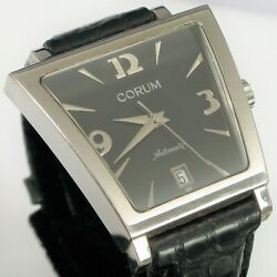 Corum Trapeze Stainless Case Automatic Date Menand039s Wristwatch Black 82.404.20