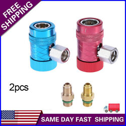 2 Pcs R1234yf Quick Connector Refrigerant Air Conditioning Adapter Durable Us