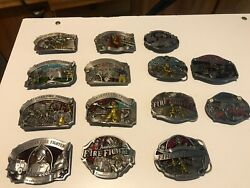 Limited Edition American Fire Fighter Belt Buckles Full Collection