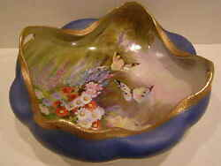 Pre 1921 Noritake Nippon Butterfly Hand Painted Bowl