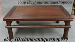 Old Chinese Hua Li Wood Hand-carved Tea Table Tea-things Teapoy End Table Statue