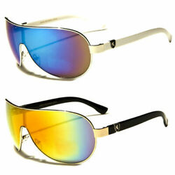 Fashion Designer Shield Aviator Large Sunglasses Men Women Black White Glass Usa $6.48