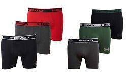 HEAD Mens Athletic Underwear - 6-Pack Stretch Athletic Boxer Briefs Training...