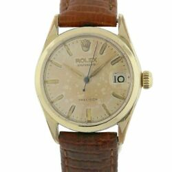 Rolex 6466 Oysterdate Vintage Plated Shell Precision Watch