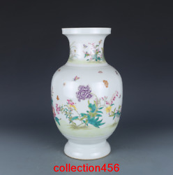 13.2andrdquorare China Antique Qing Dynasty Yong Zheng Pastel Butterfly Lantern Vase