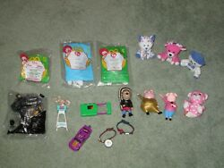 Lot Of 16 New And Used Mixed Lot Of Mcdonalds Happy Meal Toys Some Vintage