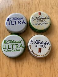 529 Michelob Ultra No Dents Beer Bottle Caps - 4 Different Kinds