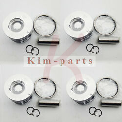 New 4 Sets Std Piston And Rings 85mm For Isuzu 4le2 Digger Excavator 8-98068-158-1