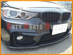 Universal Carbon Fiber Front Bumper Flat Add-on Lip For 15-17 F80 M3 And F82 M4