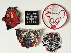 VINTAGE PATCHES MOTORCYCLE 60'S 70'S DENIM