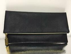 New Estee Lauder Folded Bag Party Evening Cosmetic Black Travel Clutch Pouch $6.99