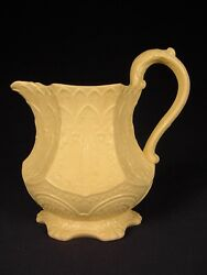 Rare Antique 1817 Wedgwood Raised Relief Gothic Pitcher Yellow Ware Mint