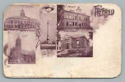 Freehold Nj Antique Multiview Postcardnew Jersey Library High School 1908