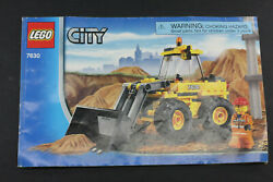 Lego City 7630 Front End Loader Manual - Build Instructions Only - Used L1150e