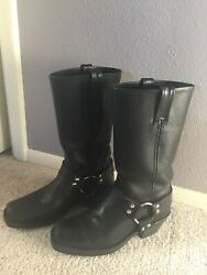 Fry Harness Leather Boots For Women Size 7 Color Black