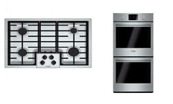 Bosch 500 Series Package Of Electric Smothtoop Ngm5055uc And Double Oven Hbl5651uc
