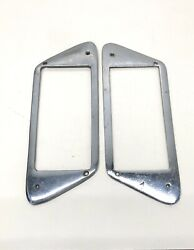 Used Chrome Brass Pair Step Pad Framesport And Starboard'55-65 Centurywood Boat