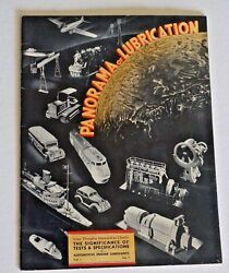 1941 Shell Oil Company Panorama Of Lubrication  Wwii Publication