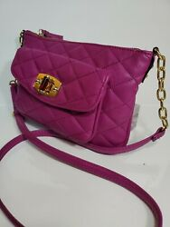 Merona Woman Crossbody 10x6.5quot; dark lilac $13.52